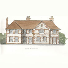 Red House Architects traditional country house exterior plan drawing